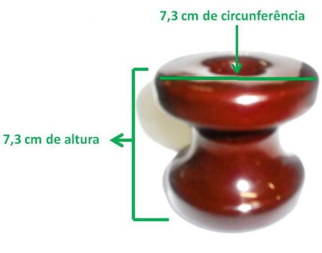 40 Unidades de Conjunto Isolador Tipo Roldana de porcelana