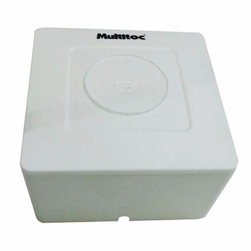 4 Unidades de Caixa de sobrepor para CFTV Quadrada Branca c/ tampa cega