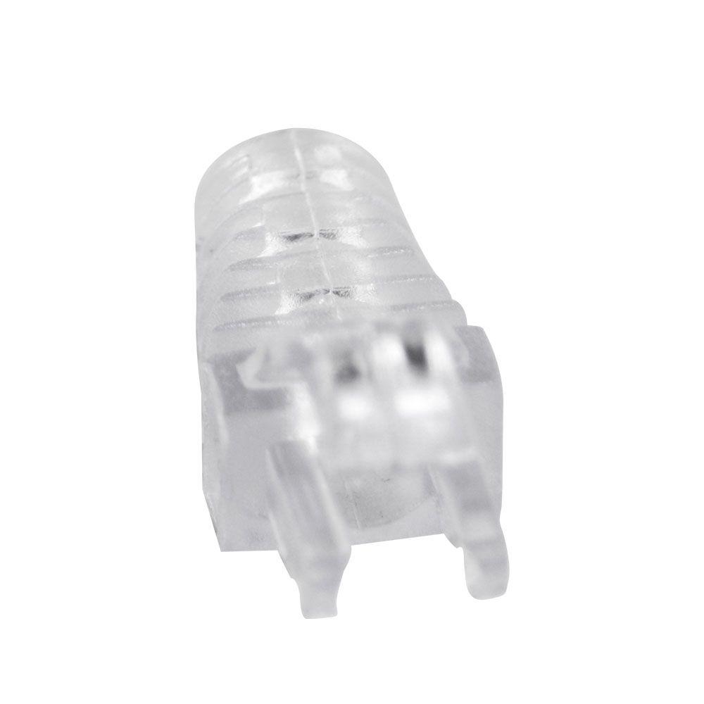 "50 Capas protetoras ""Snap In"" Transparente e 50 Conectores RJ45 Cat5e PMC."