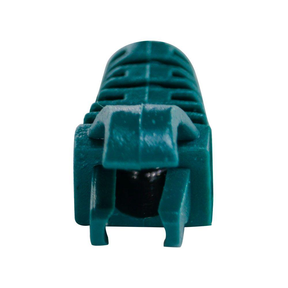 "50 Capas protetoras ""Snap In"" Verde e 50 Conectores RJ45 Cat5e PMC."