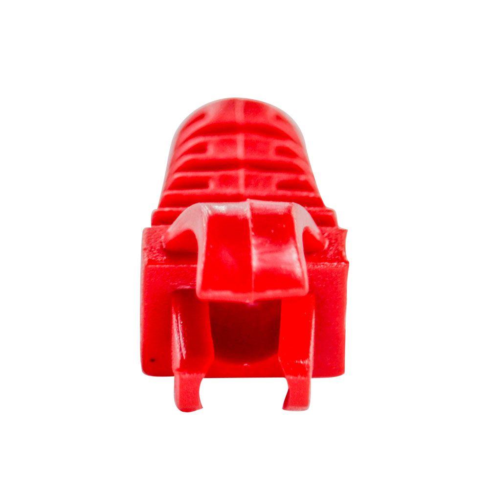 "50 Capas protetoras ""Snap in"" vermelha + 50 Conectores RJ45 Cat5e SOHO PLUS."