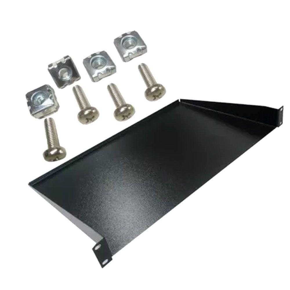 5 Bandejas para rack Modelo de fixação frontal 1U x 250mm C/ Porca Gaiola