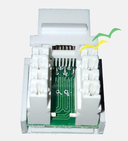 5 Pçs de Conector Fêmea Keystone RJ45 Cat5e Branco - Pier