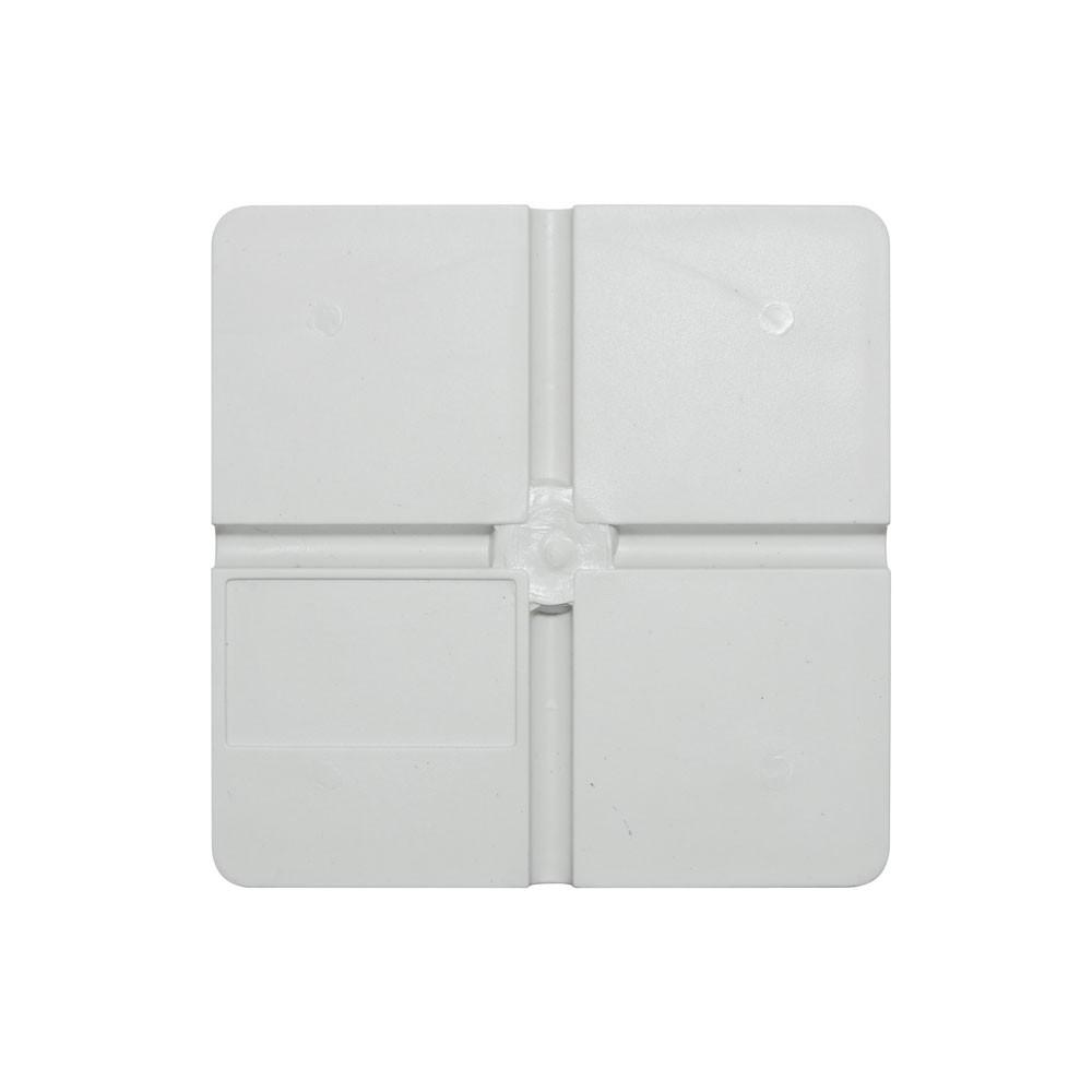5 Unidades de Caixa de sobrepor para CFTV Quadrada Branca c/ tampa cega