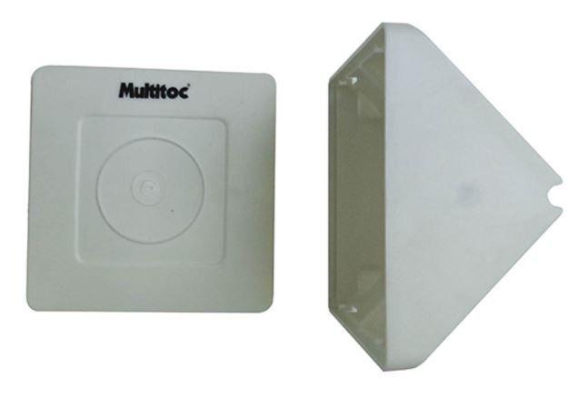 5 Unidades de Caixa de sobrepor para CFTV Triangular Branca c/ tampa cega