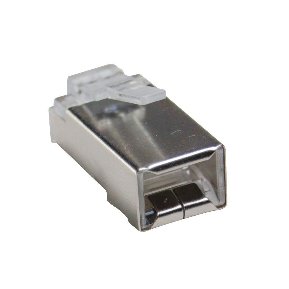 5 Unidades de Conector Macho Blindado Plug RJ45 Cat6