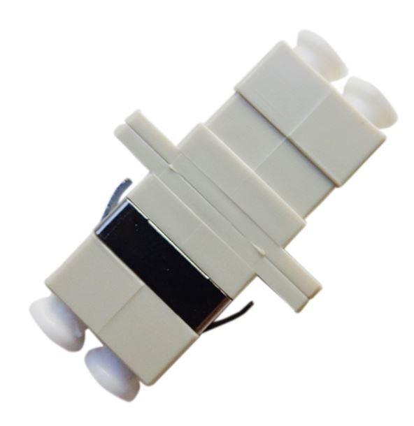 6 Unidades de Acoplador óptico LC Duplex MM Bege