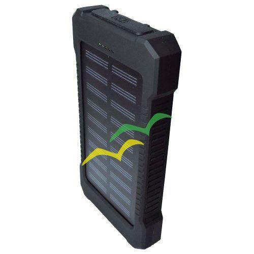 Carregador POWER BANK Solar Portatil Universal com LANTERNA de LED 8000mAH PB-S80