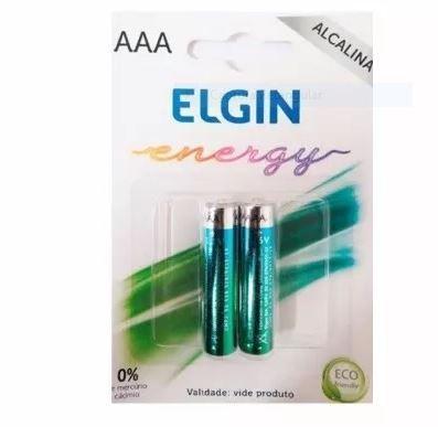 Pilha AAA Alcalina 2 Unidades Elgin LR03