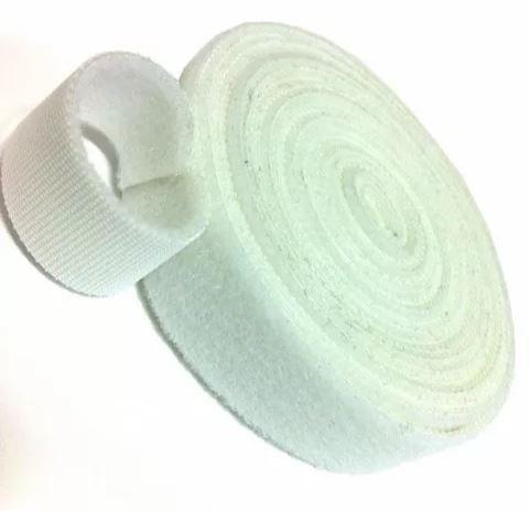Abraçadeira Gancho e Laço Fita Dupla Face 3 Metros x 20 mm Branca