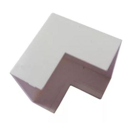 Acabamento para Canaleta Cotovelo Externo 50X20 Branco - ILUMI