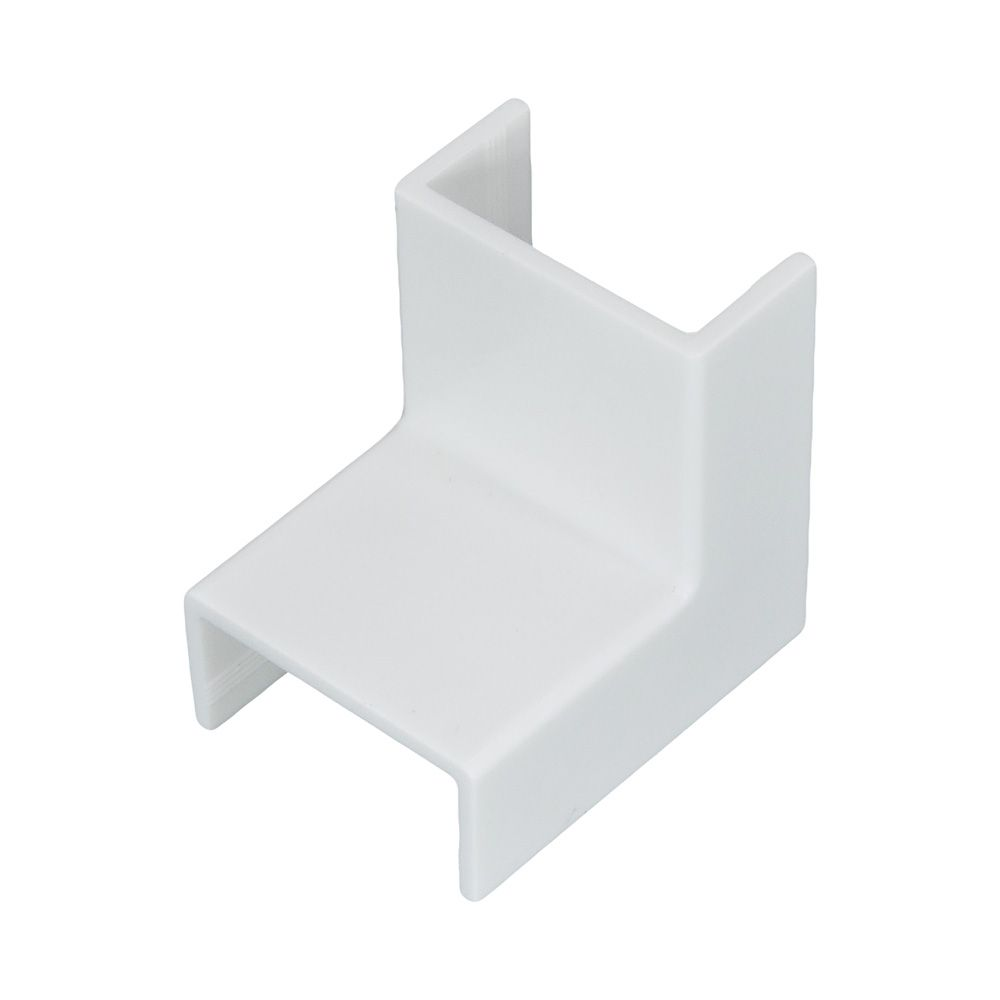 Acabamento para Canaleta Cotovelo Interno  10x20mm Branco - 6202  - ILUMI