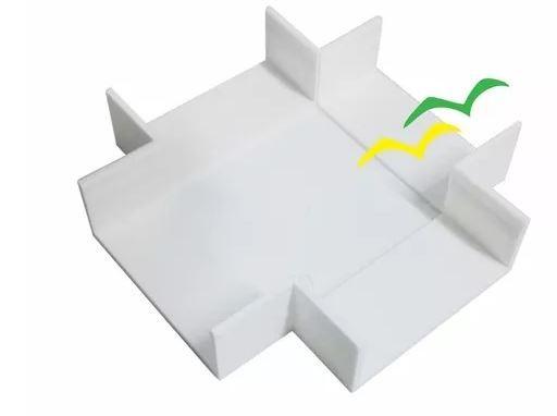 Acabamento para Canaleta Cruzeta 40X16 Branco - ILUMI