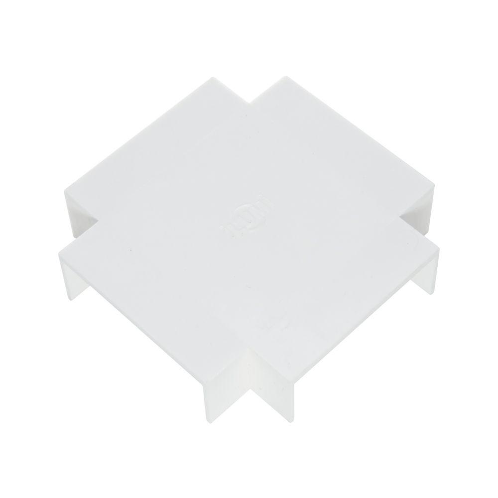 Acabamento para Canaleta Cruzeta 50X20 Branco - ILUMI