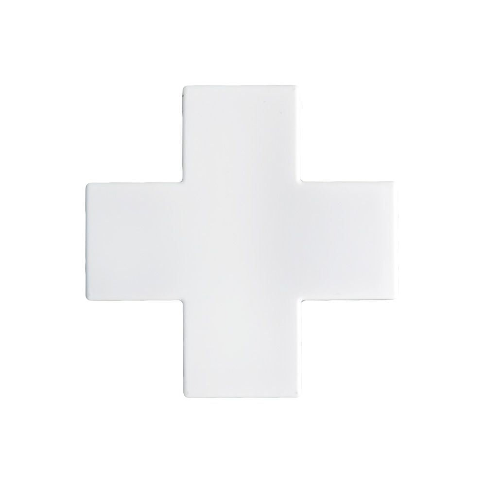 Acabamento para Canaleta Cruzeta Branco 10X20 - ILUMI