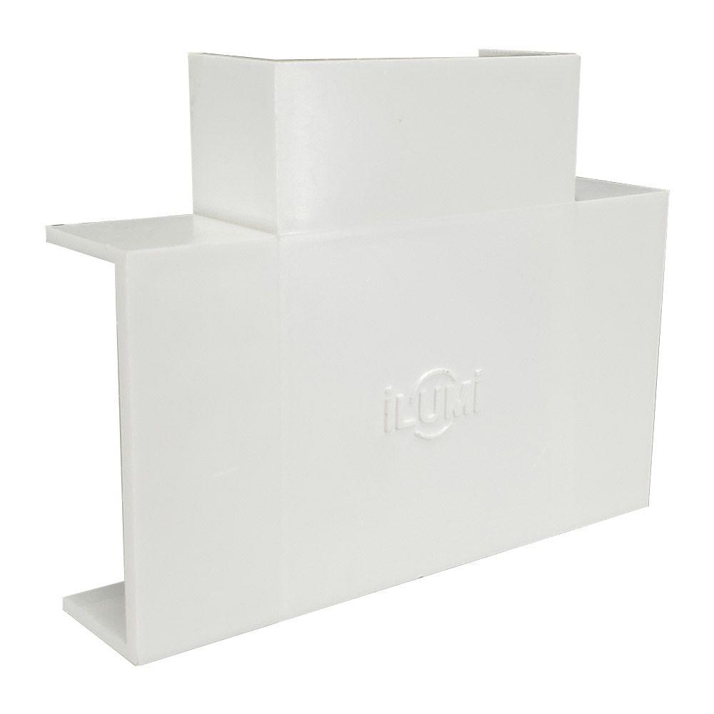 Acabamento para canaleta tipo T 40X16 Branco - ILUMI