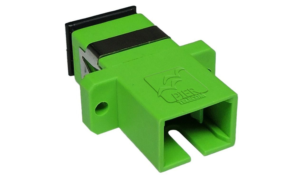 Adaptador de fibra óptica Acoplador Óptico SC APC Simplex SM Verde