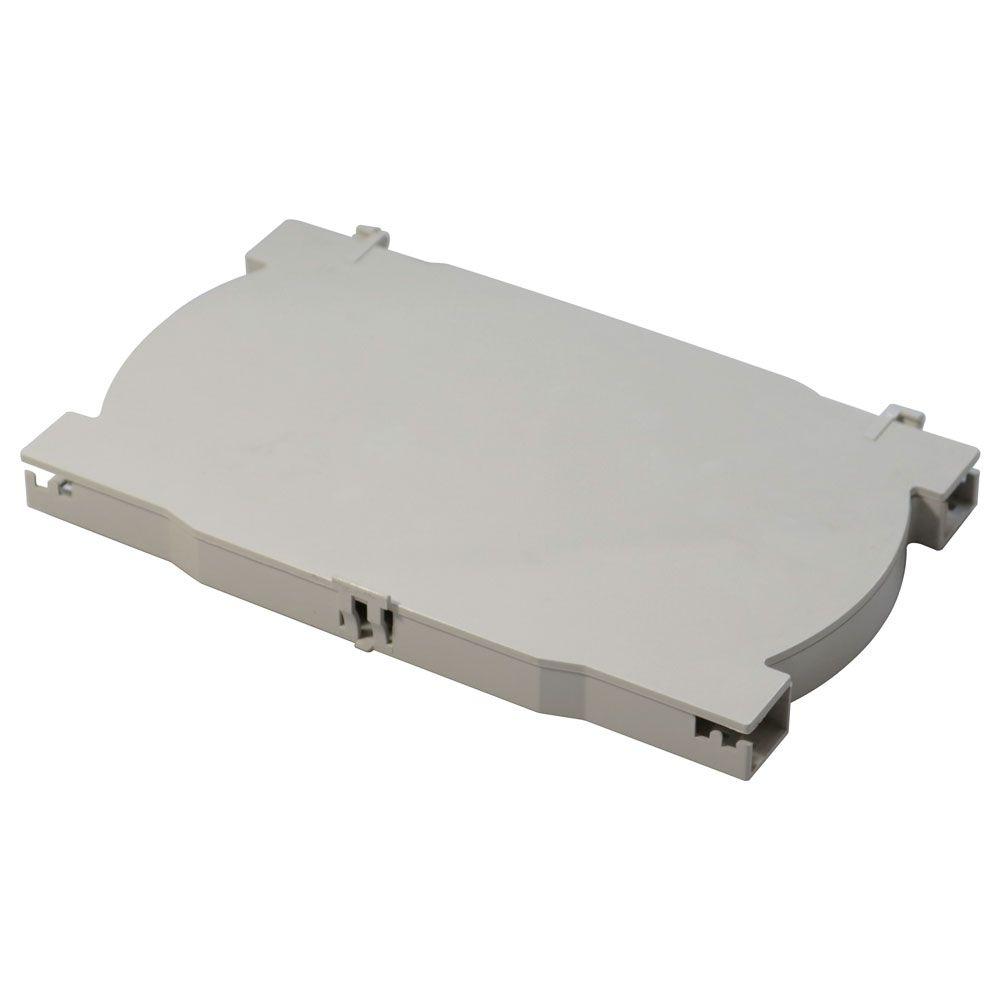 Bandeja plástica de emenda Bege 12FO universal p/ caixa de emenda e DIO