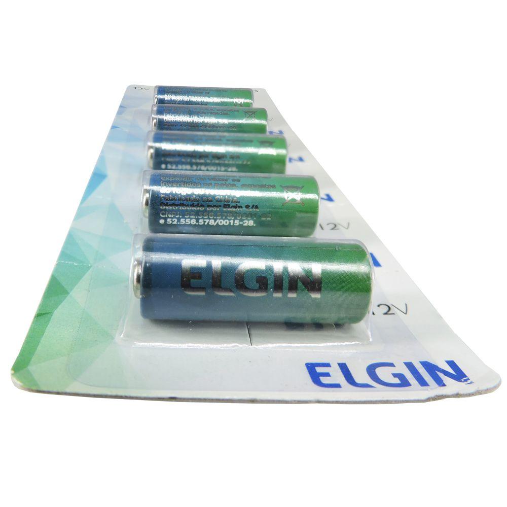Bateria A23 Alcalina Cartela com 5 unidades Elgin