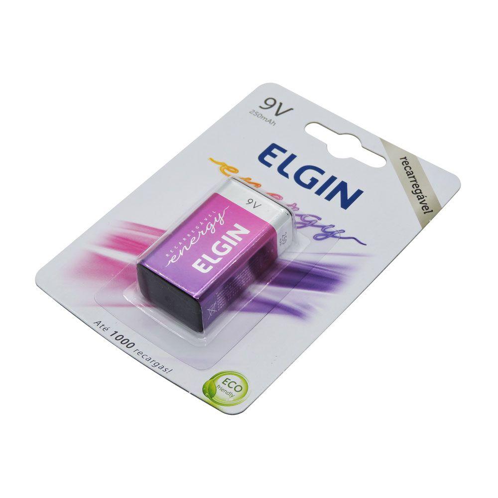Bateria Recarregável 9v Elgin