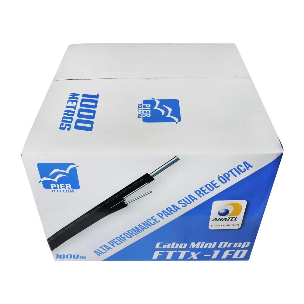Bobina 1Km Cabo Óptico Mini Drop 1 FO Homologado Anatel CFOAC-BLI A/B-CM-01-AR-LSZH - Piertelecom