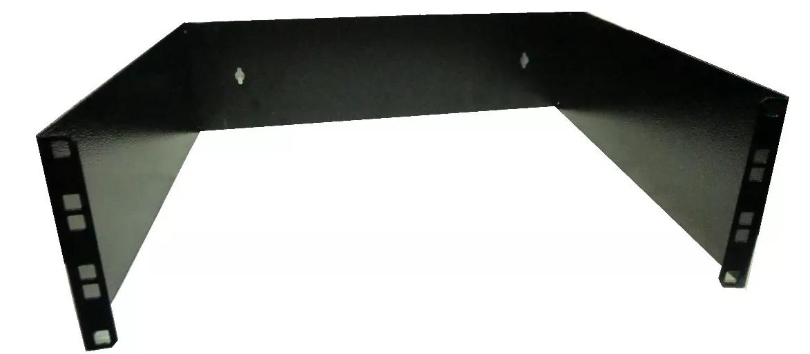 Bracket Aberto Padrão 19'' Para Cabeamento Estruturado e CFTV 2u x 100mm Preto