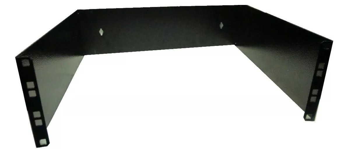 Bracket Aberto Padrão 19'' Para Cabeamento Estruturado e CFTV 3u x 300mm Preto