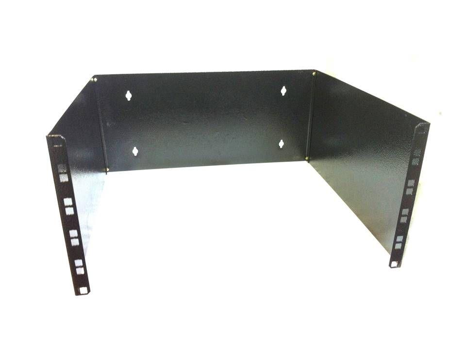 Bracket Aberto Padrão 19'' Para Cabeamento Estruturado e CFTV 6u X 300 Mm Preto Preto