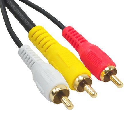 Cabo Audio e Video RCA 3 vias 1,5mt