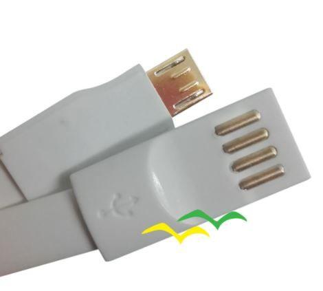 Cabo USB com imã para carregamento achatado 1,2M para Micro USB - CINZA EXBOM