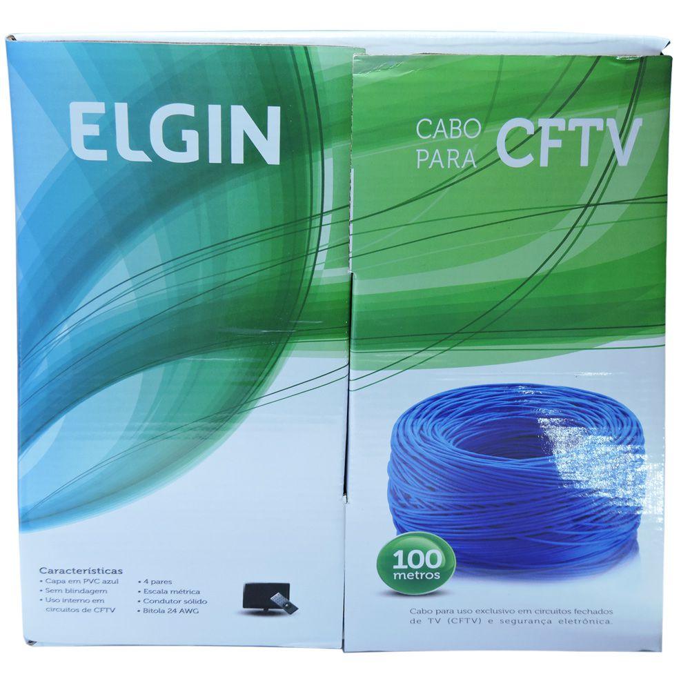Caixa com 100 Metros Cabo de rede  e Internet UTP e CFTV com 24 AWG Azul