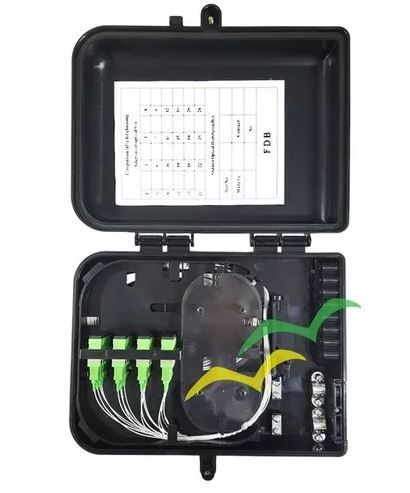 Caixa de Atendimento CTO - Montada c/ Splitter 1X16 e Adaptadores SC-APC