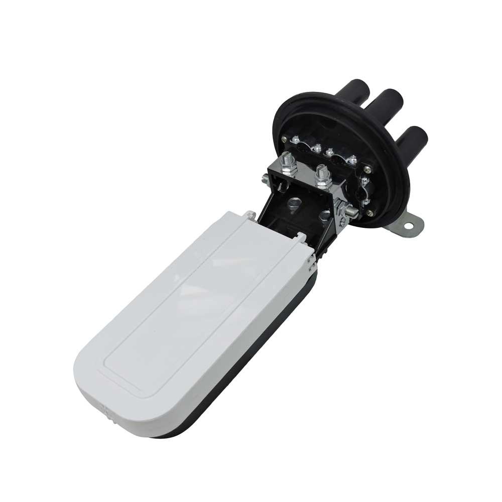 Caixa de Emenda Selada de Fibra Optica Mini CEO 12/24FO - Pier Telecom