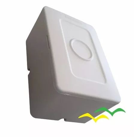 Caixa de sobrepor para CFTV RETANGULAR Branca c/ tampa cega