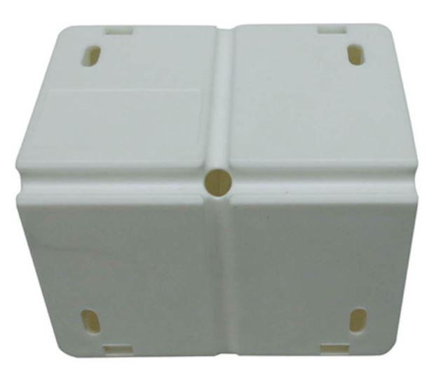 Caixa de sobrepor para CFTV Triangular Branca c/ tampa cega