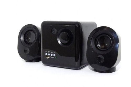 Caixa de Som Bluetooth 16W com Subwoofer Wireless 2.1 Canais com FM e Multimidia VC-G300BT - QUADRADA