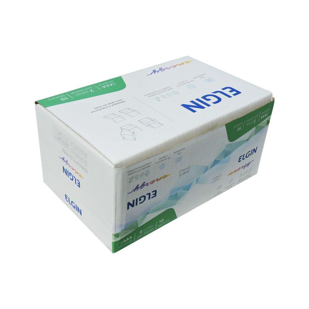 Caixa mãe com 10 Blister de 2 pilhas AA Alcalina Elgin Lr6