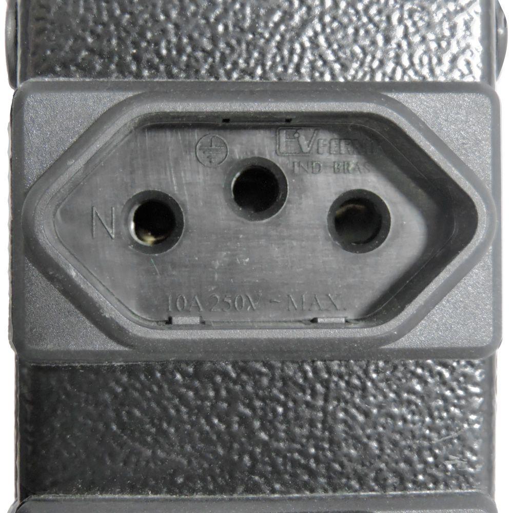 Calha Elétrica 8 Saídas 10 Amperes Com Disjuntor Padrão Novo Racks 19