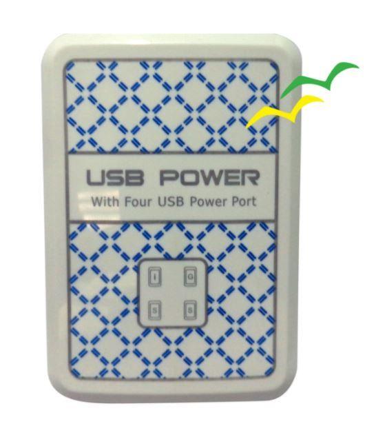 CARREGADOR VIAGEM MULTIFUNCAO 4 PORTAS USB/15W - EXBOM