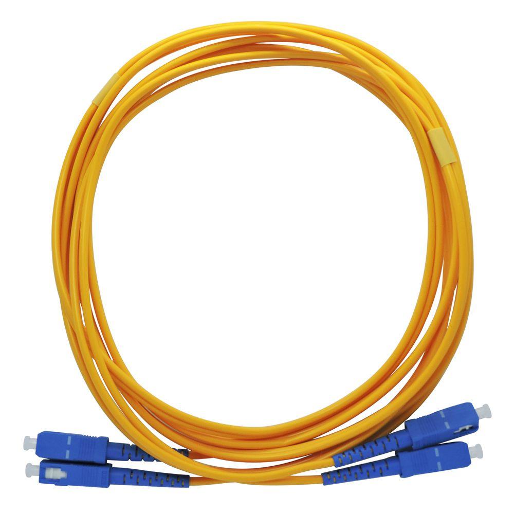 Cds Cordão Óptico Duplex Sm Monomodo Sc-pc / Sc-Pc 9/125 Azul