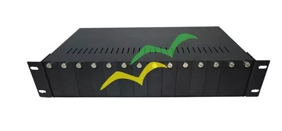 """Chassi Rack 19"""" 2U - 14 Slots - Fonte Alimentação Redundante 220VAC (110V) CRE-200D"""