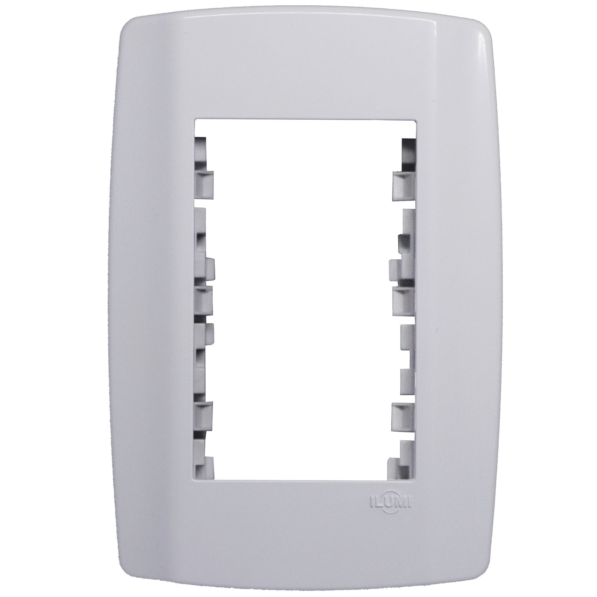 Cj 4x2 Interruptor Simples Módulo Cego Tomada 10a Ilumi Slim