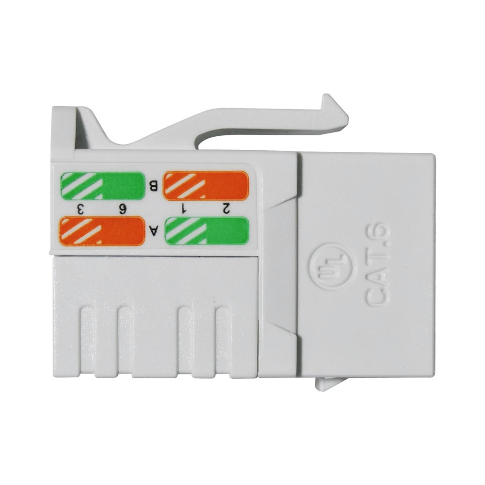 Conector Fêmea Rede Lan Rj45 Keystone Cat6 Furukawa Sohoplus Branco