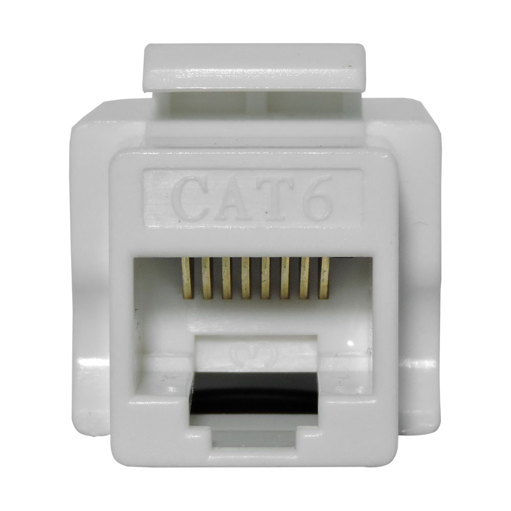 "Conector Keystone RJ45 Cat6 8-vias ""Branco"" - Fêmea"
