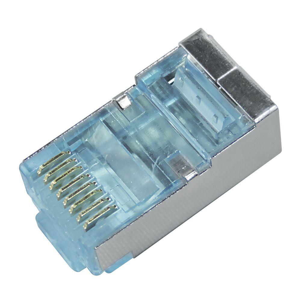 Conector Macho Blindado Plug RJ45 Cat6 Fast Track - GTS