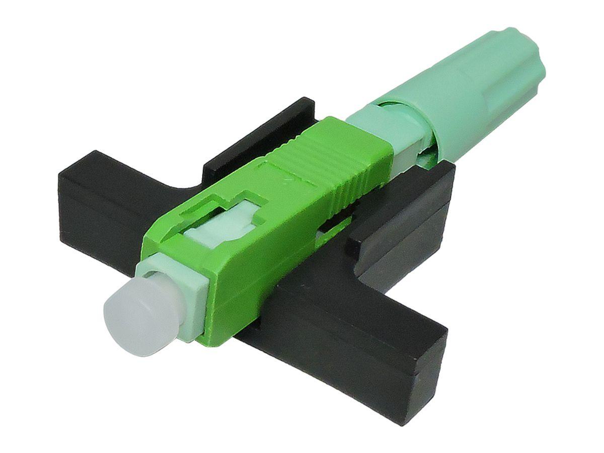 Fast Connector Rosca Verde e Boot SC UPC SM Verde