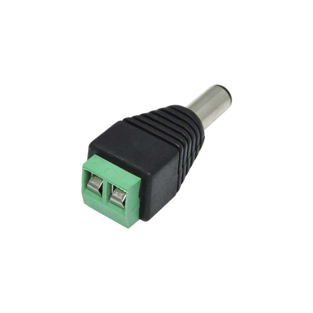 Conector P4 Macho de Borne / Borne para Fonte  de câmera CFTV
