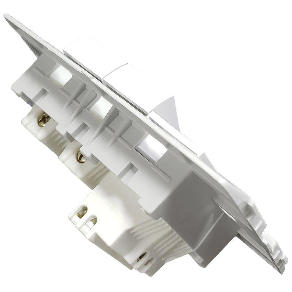 Conjunto 2 Interruptor Simples 10A + 1 Tomada 20A 250V - Linha Slim Ilumi - 80211