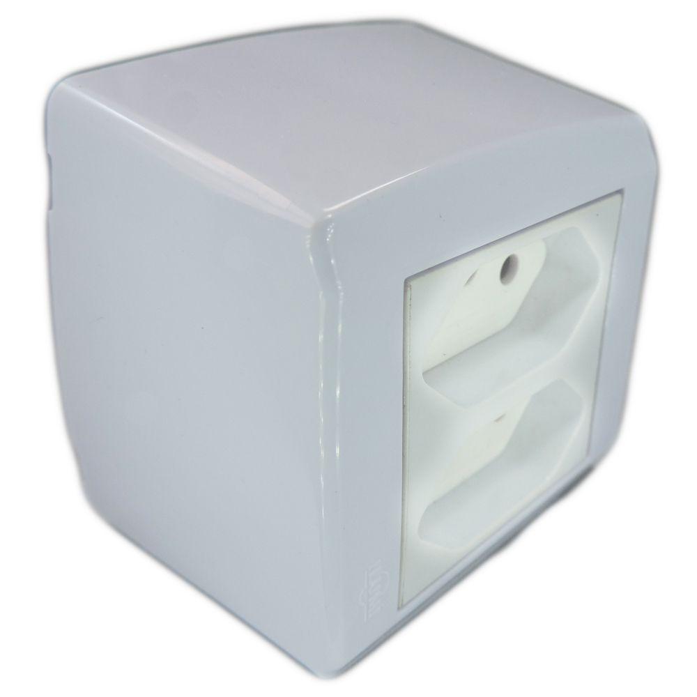 Conjunto 2 Tomada Sobrepor 20A 250V - Box Monobloco - ILUMI 84121