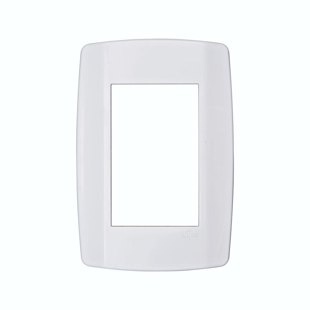 Conjunto 3 tomadas 10A 250V c/espelho 4x2 - Linha Slim MONOBLOCO Ilumi 80123